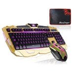 BlueFinger Gold Gaming Keyboard & Mouse Combo Review